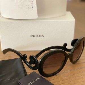 Prada round black sunglasses